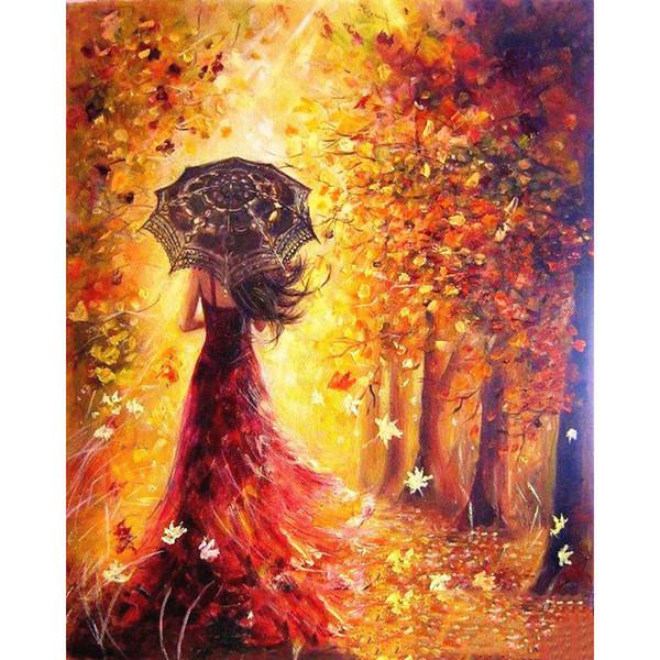 Sin marco figura abstracta pintura diy pintura by números moderno imagen de arte de pared pintado a mano pintura al óleo para la decoración del hogar