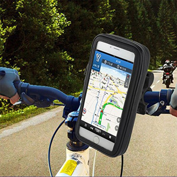 Free Shipping Waterproof Moto Bike Bicycle Mount Phone Holder Bag Case Mobile GPS Support For iPhone 6 6S for Samsung Galaxy S3 S4