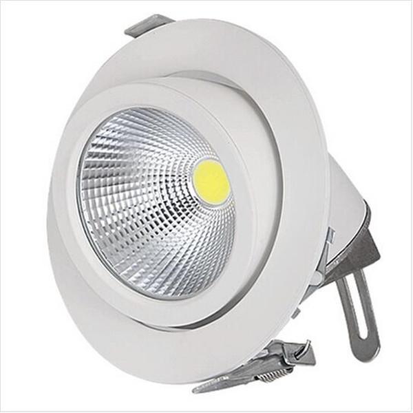 Бесплатная доставка Epistar COB свет регулируемая розничная белый светильник 15 Вт 25 Вт 35 Вт COB вниз свет прожектор с углом регулировки в 2 направлениях