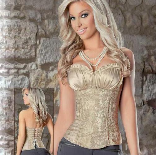 3pcs/lot 2017 New European style palace vest corset strapless strait body suit body sculpting clothing
