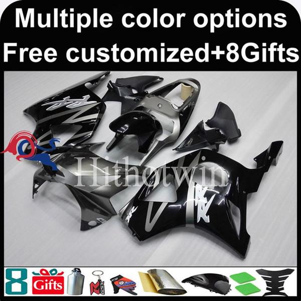 23colors + 8Gifts preto Boda kit capota de motocicleta para HONDA CBR954RR 2002-2003 CBR954 RR 02 03 Plástico ABS Carenagem