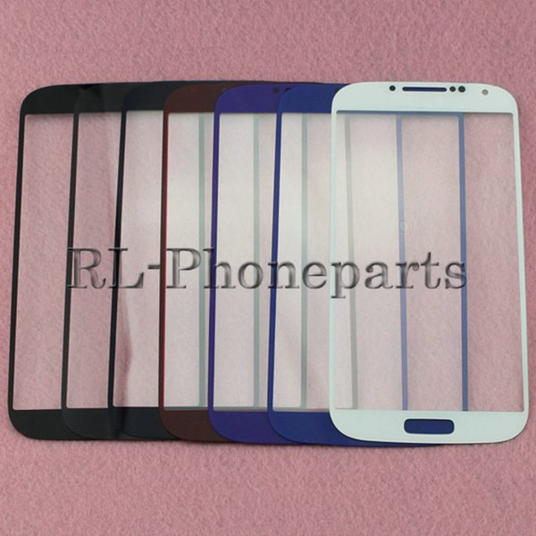 DHL 100pcs/lot LCD Touch Screen Front Outer Glass Lens Digitizer Screen For Samsung Galaxy S4 i9500 i9505 M919 S4 mini I9190 I9195