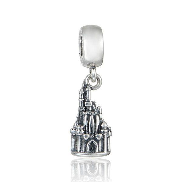 Charms castle pendants S925 sterling silver fits for pandora style charm bracelets free shipping aleCH633H9