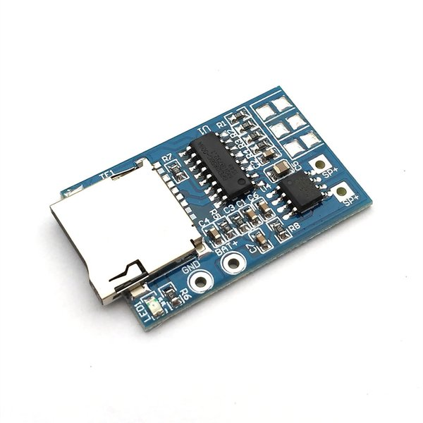 10 piece TF card MP3 decoder board with 2W power decoding module 3.7-5V mixed mono playback with memory