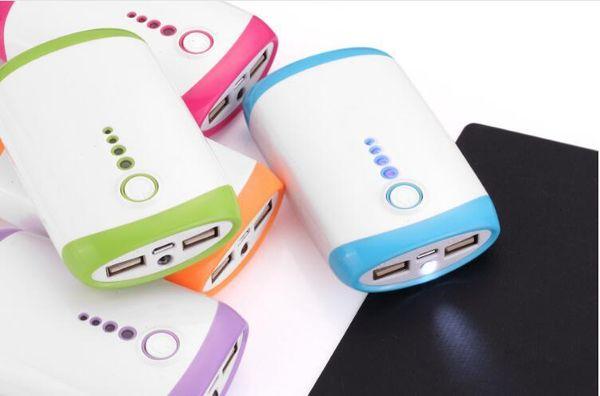 5600 mAh Power Bank 8400mAh Mobile Phone Portable External Backup Battery Charger powerbank w/ LED Flashlight w/ One Micro USB Cabl