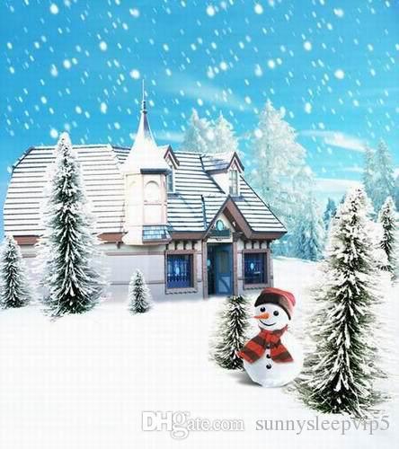 Картина зимний снег пейзаж для фотостудии 5x7ft винил фон свадьба дети семейная фотография фонов