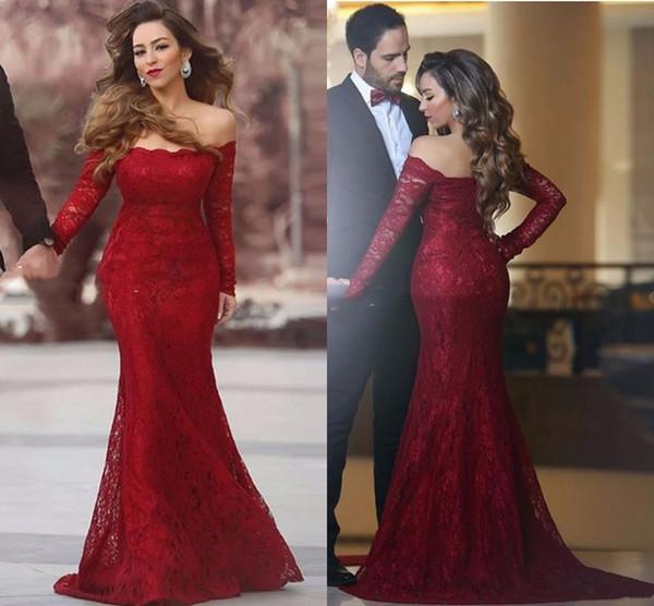 Sexy Burgundy Mermaid Formal Gowns