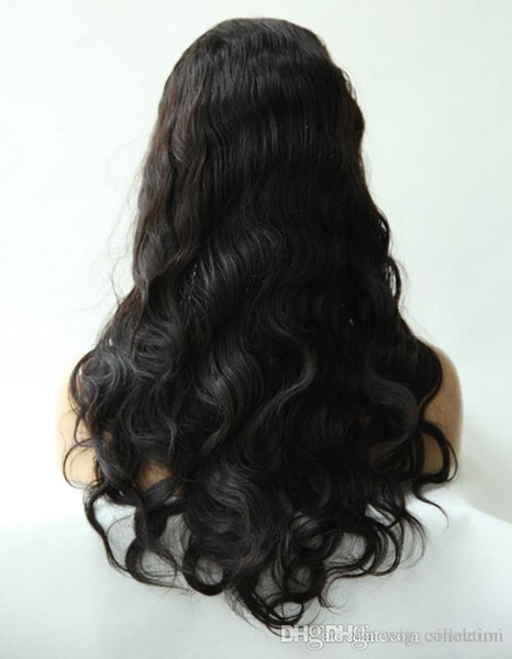 Malaysian Body Wave Lace Human Hair Wigs, unprocessed Natural Color Human Hair Wigs With Natural Baby Hair On Sale