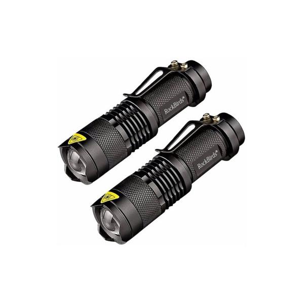 Linterna LED de Rockbirds, A100 Mini Super Bright 3 Modo linterna táctica, las mejores herramientas para practicar senderismo, caza, pesca y acampar 2018