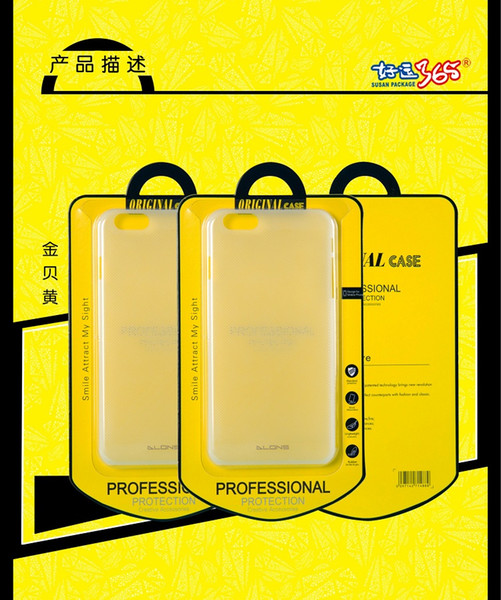 200pcs Wholesale Cardboard With Plastic Crystal Packaging For Phone Case Retail Packing Box For iPhone Samsung HTC