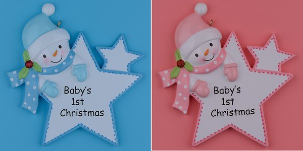 Maxora personalized baby first christmas ornaments blue boy pink maxora personalized baby first christmas ornaments blue boy pink girl star as craft souvenir for natal negle Image collections