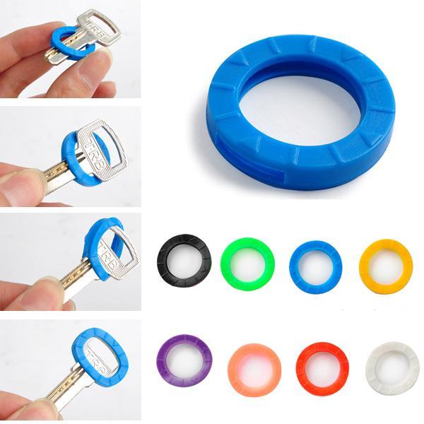 Mescolare cavità multi colore gomma soft key serrature chiavi tappi copritastiera portachiavi topper