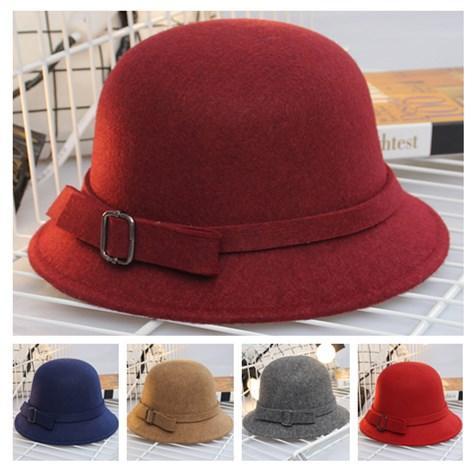 Fashion Designer Elegant Fedoras Derby Hat With Bow For Women Dress Church Hats Ladies Formal Wedding Honey Bucket Cap Winter head warmer