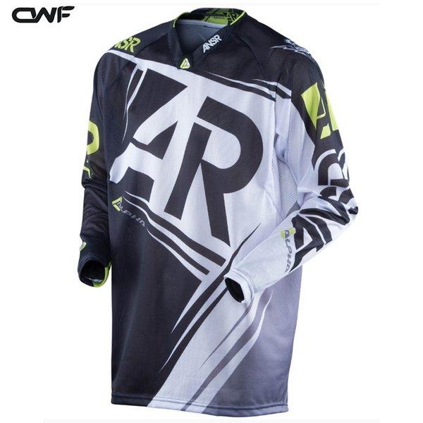 2017 Yeni Erkekler DH MX Motocross Yarış Forması Motosiklet T Shirt Bisiklet Uzun Kollu T Gömlek Off-road Jersey XS-5XL