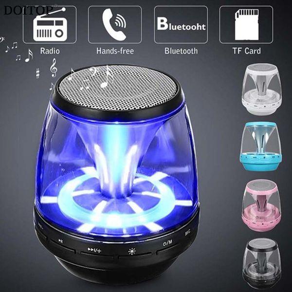 Wireless Bluetooth Speakers Powered Subwoofer LED Light Support TF Card FM MIC Mini Digital Speaker car hands-free calls M28 MIS161