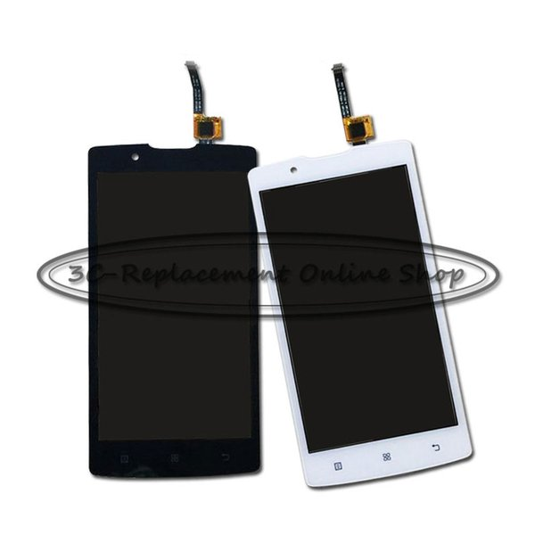 Wholesale- White/Black For Lenovo A2010-a Angus 2 LCD Display with Touch Screen Digitizer assembly Smartphone Replacement + Order Tracking