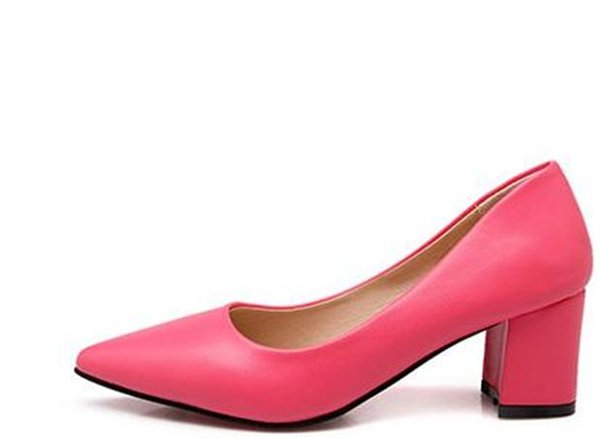 The new all-match elegant ladies low shallow mouth shoes high-heeled shoes and shoes four rough documentary @01