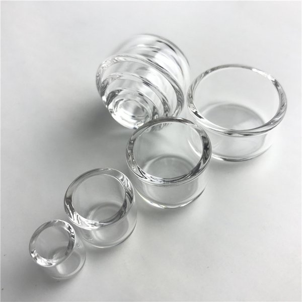 New Flat Top Bottom Thermal Skillet Quartz Phat Bowls Insert Drop Honey Bucket for XL 25mm 2mm Thick Banger Nail Water Pipes