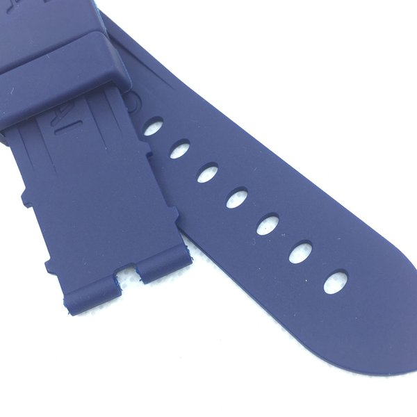 24mm 115mm / 75mm Moda Mavi Silikon Kauçuk Su geçirmez PAM Band Kayışı LUNMINOR RADIOMIR Izle