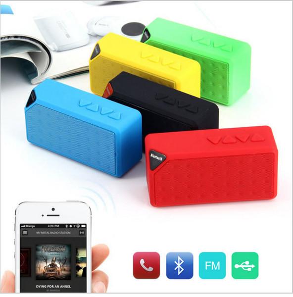 Mini Altavoz Bluetooth X3 TF USB Radio FM Caja de Sonido de Música Portátil Inalámbrica Subwoofer Altavoces con Micrófono para iOS Android