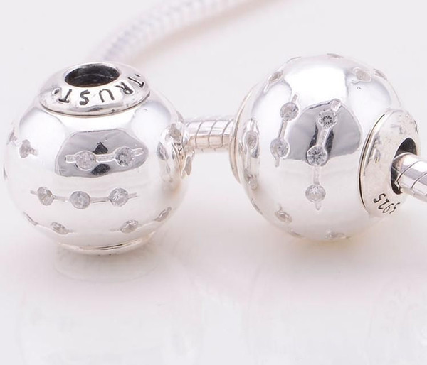 smooth stopper beads european S925 sterling silver fits DIY pandora style bracelet free shipping hot sale ST101