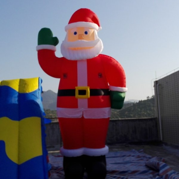 Outdoor decoration 5M giant Christmas inflatable Santa wiith air blower free shipping