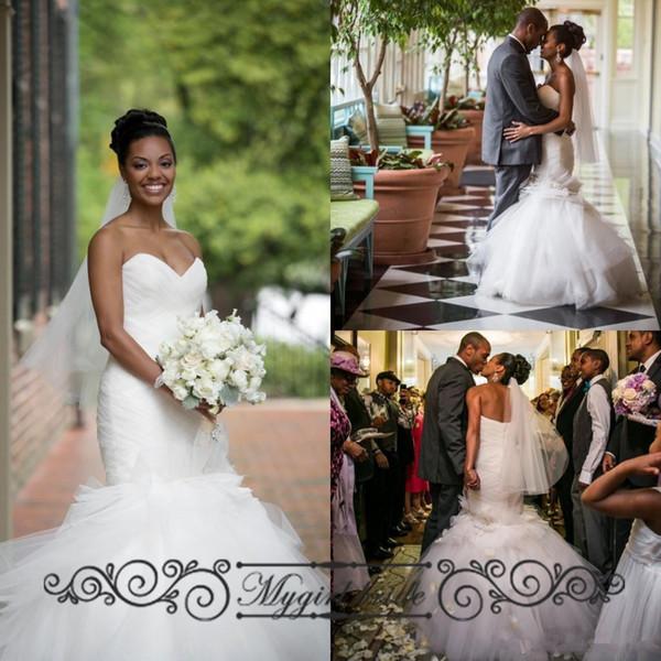 2016tulle Backless Mermaid Wedding Dresses Vintage Sweetheart ...