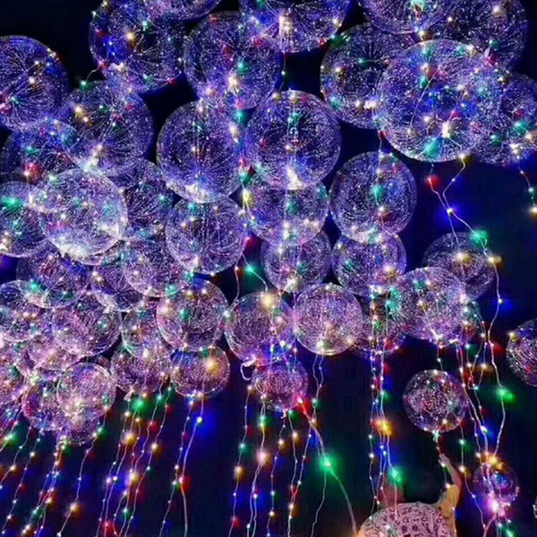 best selling New bobo ball wave led line string balloon light with battery for Christmas Halloween Wedding Party home Decoration Circular