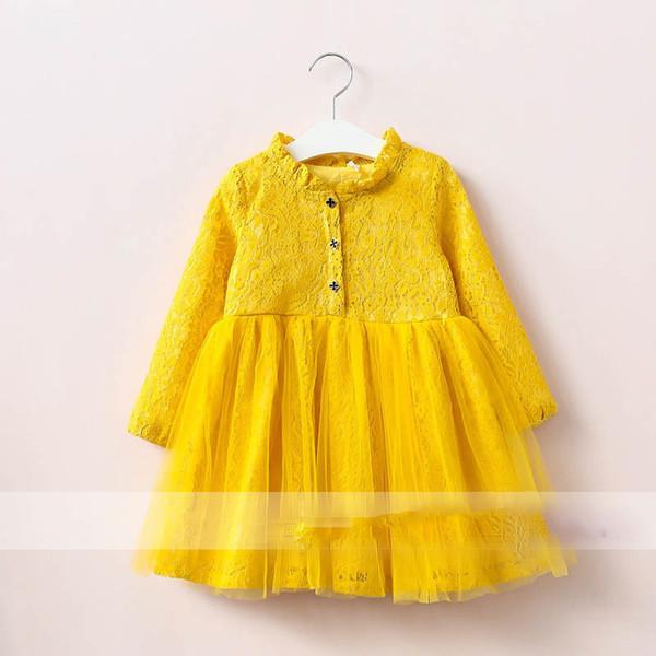Großhandel Everweekend Kinder Mädchen Spitze Rüsche Party Kleid ...