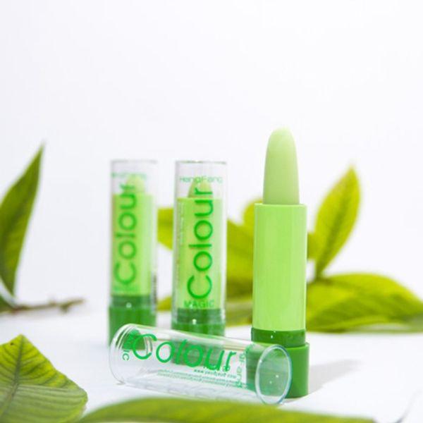 2016 New Arrival 120pcs/lot HengFang Natural Fruity Magic Green Lipstick Waterproof Mood Lipstick Moisturizing Color Changing Lip Stick