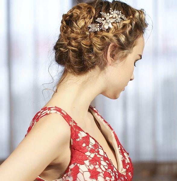 beijia Gold Freshwater Pearls Hair Comb Vintage Bridal Hair Jewelry Wedding Combs Accessories Flower Women Headwear