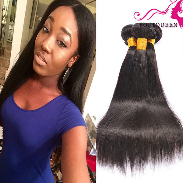 Cheap Brazilian virgin hair extensions 4 bundles peruvian straight hair weave 8-28 inch natural color free shipping straight human hair