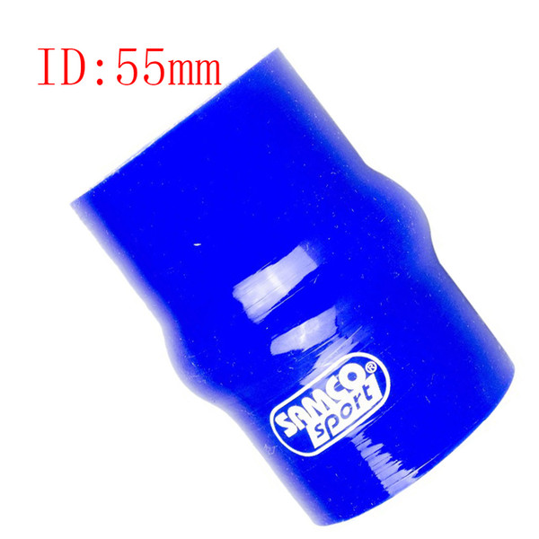 """Samco Blue 2.17"""" ID:55mm Car Auto Straight Turbo Intake Silicone Hump Hose Connector silicone Rubber Coupler Straight Pipe Tube 1 Pcs"""