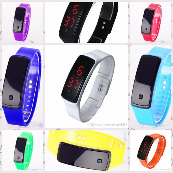 5pcs/lot 2016 Fashion Sunglasses Touch Screen LED Bracelet Digital Watches For Men&Ladies&Child Clock Womens Wrist Watch Sports Wristwatch