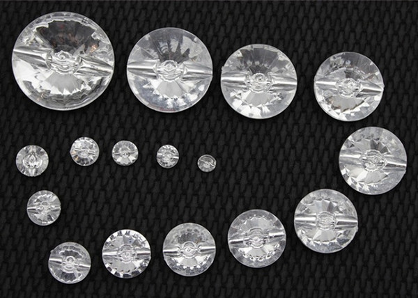 10/11.5/13/15/18/20/21.5/23-33mm Shank Buttons cystal clear for shirts clothes handmade Gift Box Craft DIY scrapbook favor Sewing