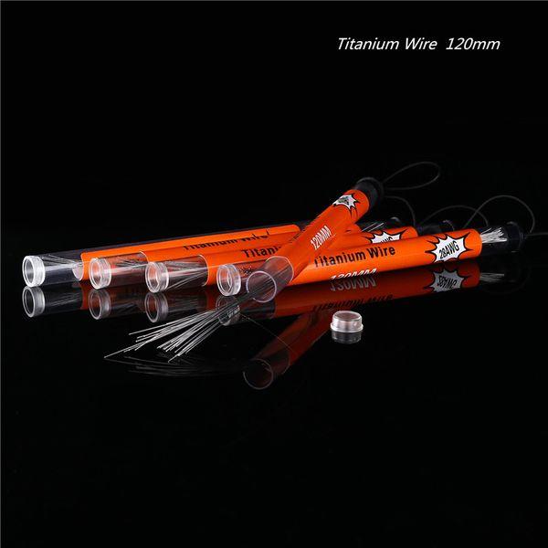 티타늄 와이어 가열 저항 코일 120mm 전선 코일 AWG 24g 26g 28g 30g 게이지 RZ RBA Vape Ecig DHL에 대 한 튜브 당 10pcs