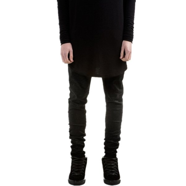 Hot high quality kanye west style men's black skinny slim fit jeans hip hop swag stretch biker jeans homme Jogger pants trousers