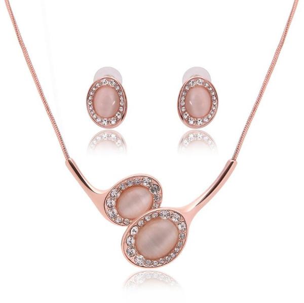 Die Neue Mode Halskette Ohrringe Schmuck Sets Hohe Qualität Trend Legierung Schmuck-Set Für Frauen Hochzeit Schmuck