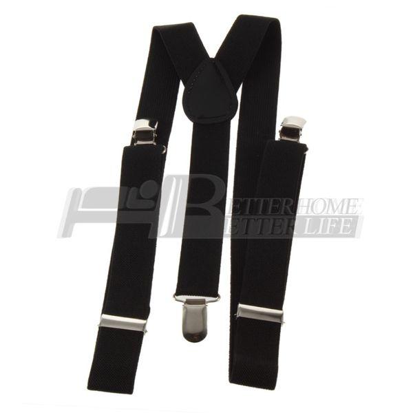 Gros-1pcs Clip-on sangles réglables unisexe pantalons entièrement élastique Y-retour porte-jarretelles bretelles