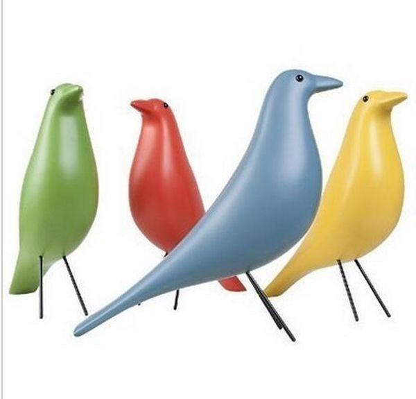 Modern Resin House Birds Designer Home Furnishings Decoraciones artesanales 6 colores disponibles Fashion Table / Floor Decoration ZA1318