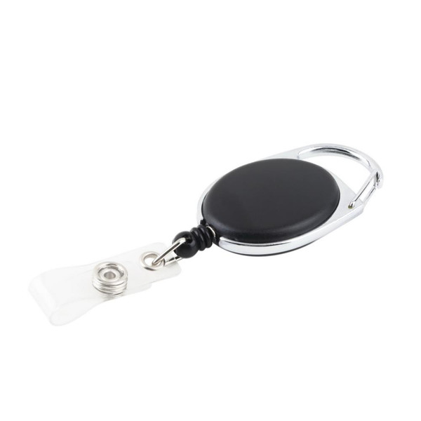 Retractable Pull Key Ring Chain Reel ID Lanyard Name Tag Card Badge Holder Reel Recoil Belt Key Ring Clip