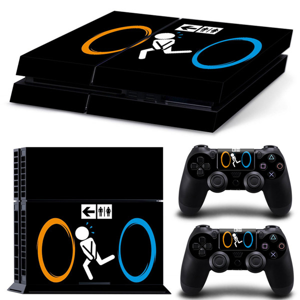 Popular Design sticker for playstation 4 for ps4 skin PVC vinyl cover for ps4 console and dualshock 4 skin for ps4 sticker