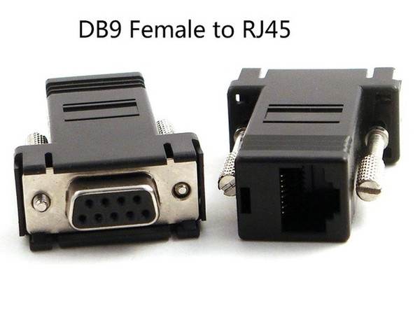 100pcs RS232 DB9 Female to RJ45 Female connector Adapter for DVD PC DVR
