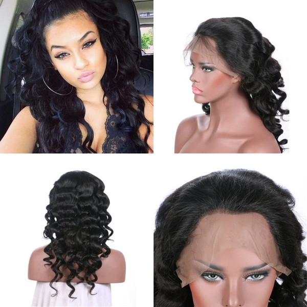 Pre Plucked Virgin Mongolian Full Lace Human Hair Wigs 130% Density Loose Wave Lace Wigs Factory Direct Price FDSHINE HAIR