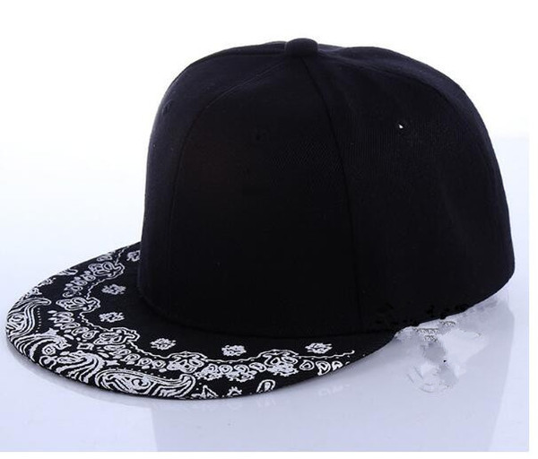 68b76975278 Fashion Ball Hats Unisex Hip-Hop Fitted Snapbacks Baseball Cap Mens Women  Adjustable Bboy Tide Flat Canvas Snapback Paisley Hats PX157
