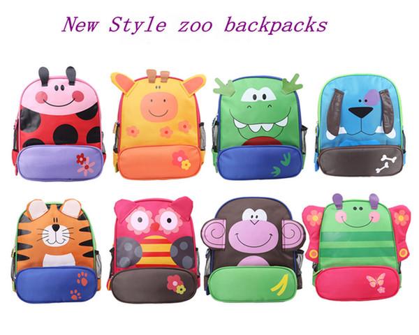 top popular High Quality Baby Cartoon Preschool Bag School Backpack Children School Bags Kids Daypack Baby gifts 8 Styles Waterproof Factory Sales 2020