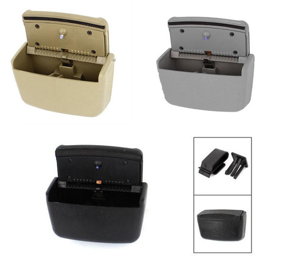 Car Rubbish Trash Portable Bin Multifunction Ashtray Garbage Can with Blue Color LED Light 3 Colors Car Can Interior Accessories