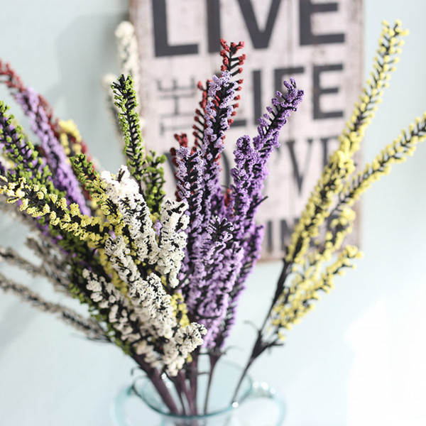 Hot Sale 10pcs/lot Artificial PE foam lavender artificial flowers wholesale home decoration wedding supplies Free Shipping