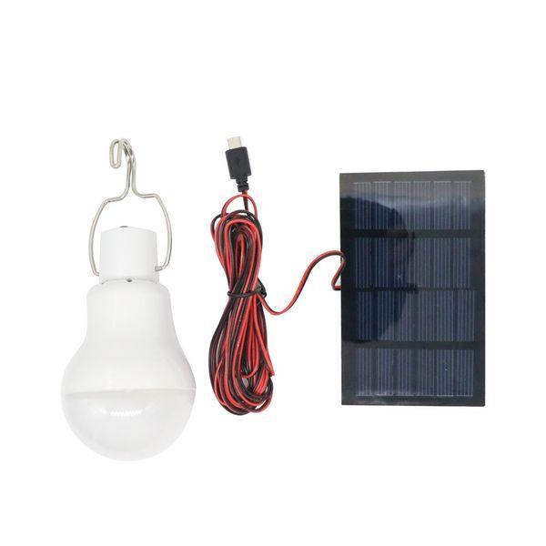 Edison2011 Vente Chaude Usage À La Maison Portable Solaire Puissance LED Ampoule Lampe Extérieure Camptent Lampe De Pêche Mobile D'urgence Lumière