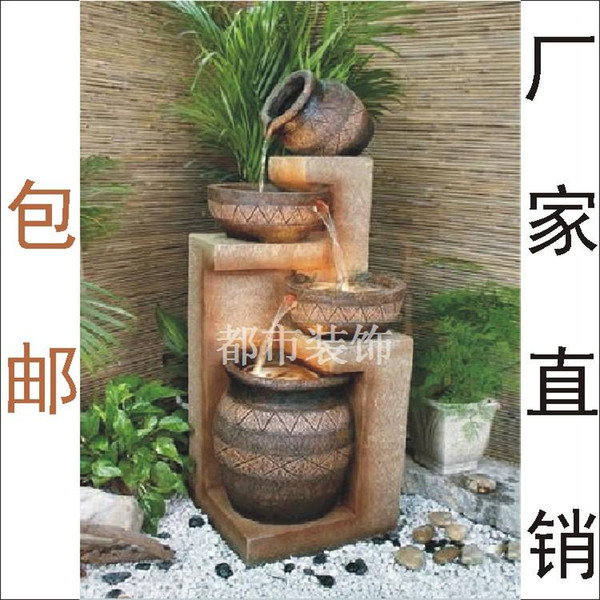 Unique Gifts Resin Fashion Indoor Balcony Water Features